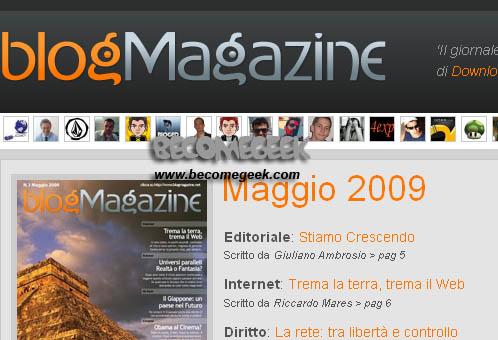 Terzo numero di BlogMagazine, Maggio 2009