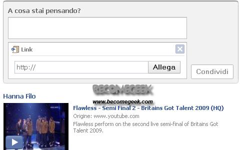 Inserire musica e video nel profilo di FaceBook