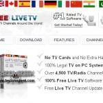 Free Live TV: guardare gratis 4500 canali di tutto il Mondo