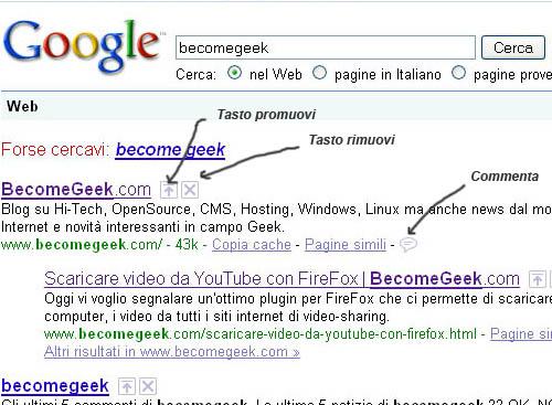 Google Search Wiki: modificare i risultati delle ricerche