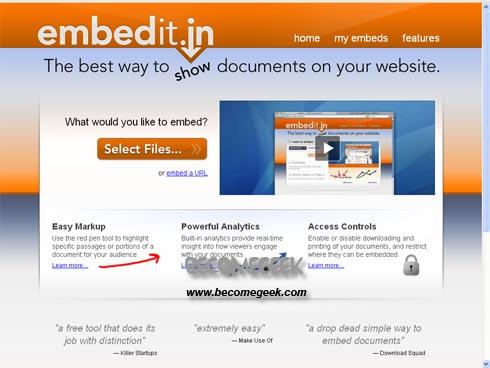 Embedit.in: Pubblica tutto sul tuo sito
