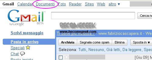 Google Gmail Documenti