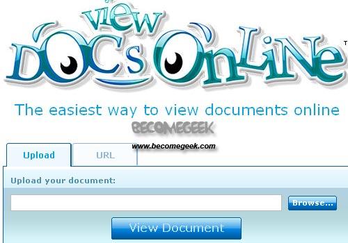 View Docs Online: Guarda online i tuoi documenti