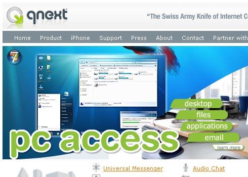 File Sharing via Web con Qnext