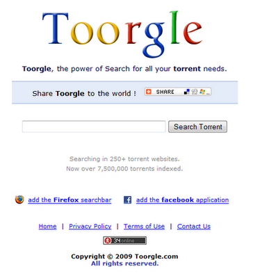 Toorgle: cercare file torrent con Google