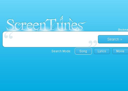 Motore di ricerca per canzoni: ScreenTunes