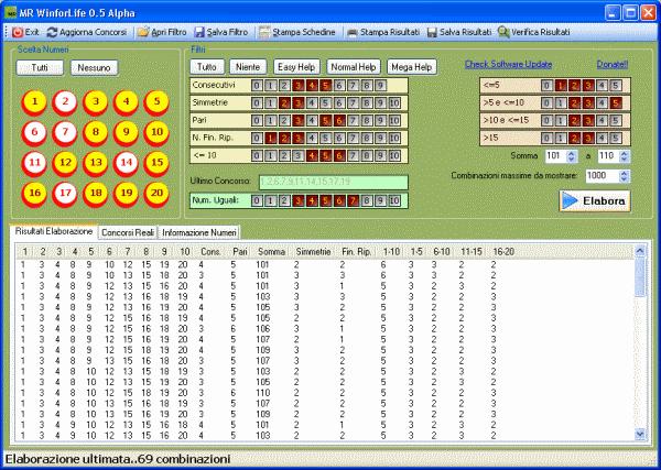 MR Win For Life: software gratuito per Win for Life