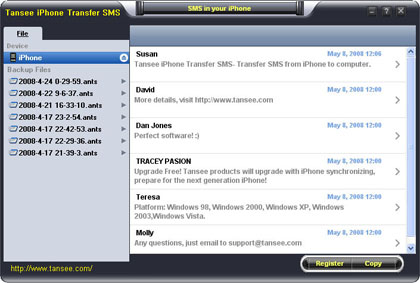 trasferire sms da iPhone su PC