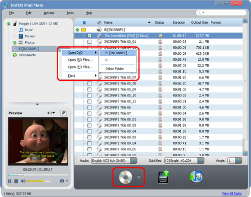 Transfer DVDs to iPad