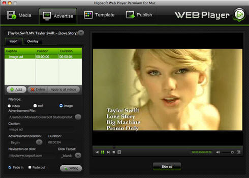 main interface of higosoft web player