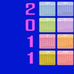 Sfondo Desktop con calendario 2011