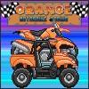 Orange motobike racing