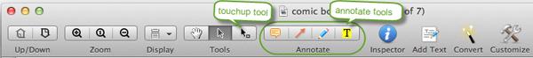 PDF Editor for Mac Toolbar
