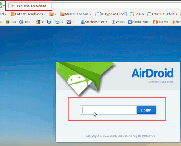 Airdroid-Welcome-screen
