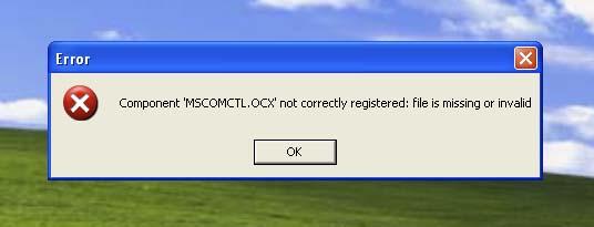 Errore Componente MSCOMCTL.OCX su Windows 64 bit
