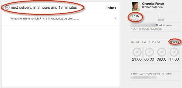 Dopo.io Tweet buffer by email.