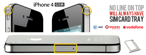 Distinguere iPhone 4 GSM da CDMA