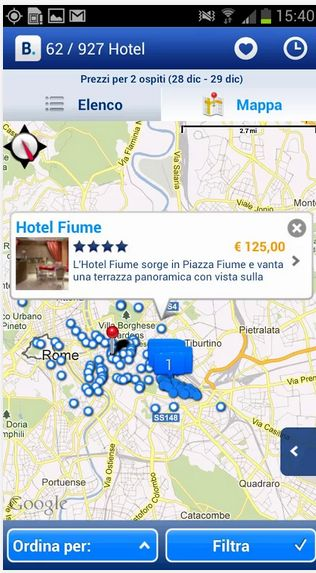 App Booking.com su Windows Store e Google Play