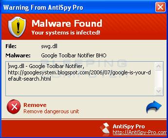 Rimuovere malware da un PC Windows