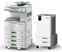 Stampante con riciclo della carta