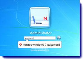 Come effettuare reset password di Windows 7