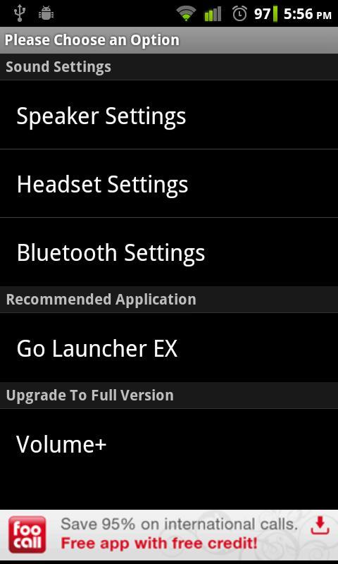 Amplificare suono in uscita su dispositivo Android