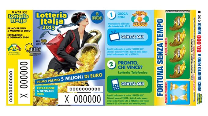 Estrazione biglietti lotteria Italia 6 Gennaio 2014