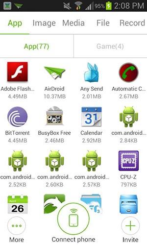 App per Trasferire Files tra dispositivi Android