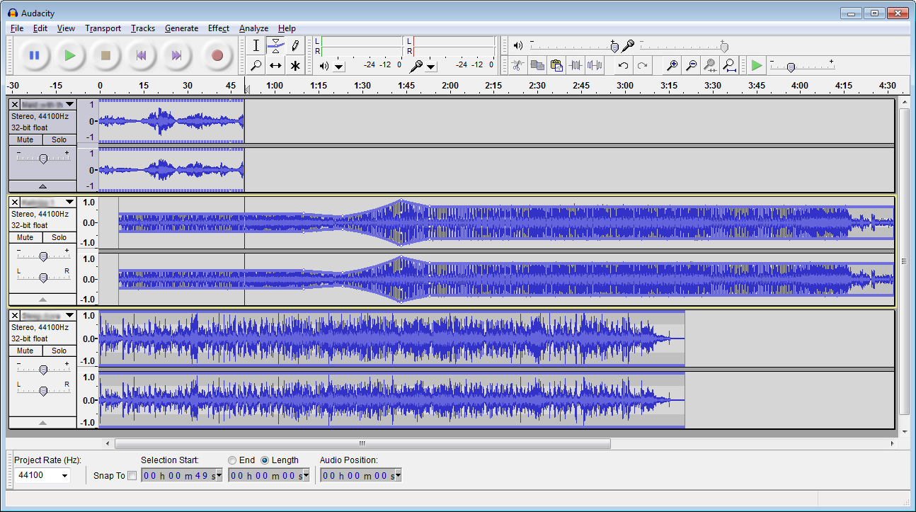 Alternativa a Audacity per modificare Midi & MP3