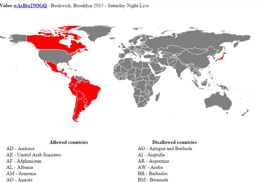 Come scoprire se un video Youtube è visibile solo in alcuni Paesi