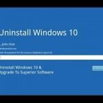 Come disinstallare Windows 10
