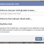 Come essere visibile in chat Facebook solo ad alcuni amici