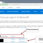 Come cambiare indirizzo email primario account Microsoft