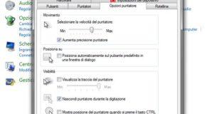 Come regolare le impostazioni del mouse in Windows