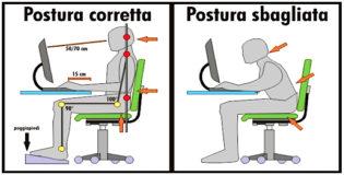 Come sedersi davanti al PC ed evitare il mal di schiena