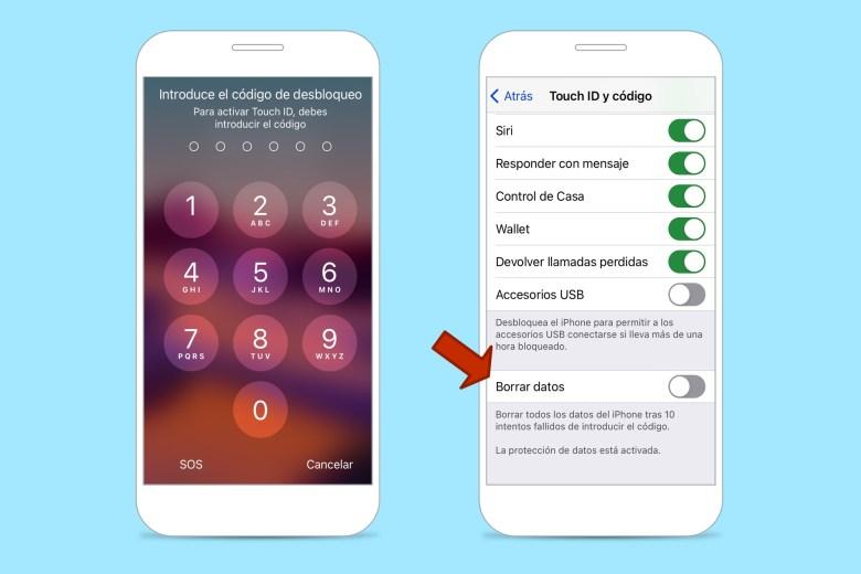 """iPhone Tricks """"class ="""" wp-image-1302851 """"/> </noscript></h2><p>Sebbene gli amici di gli estranei rubano gli iPhone per il loro <strong> valore economico </strong>alcuni lo fanno anche alla ricerca di dati personali preziosi come coordinate bancarie, password, ecc. Per evitarlo, il tuo iPhone ha una <strong> misura di sicurezza nascosta </strong>. Uno dei trucchi più drastici per iPhone. Prima di attivarlo, prova <strong> a eseguire il backup </strong> frequentemente.</p><p>Una volta attivato, tutti i dati sull'iPhone verranno cancellati dopo 10 tentativi falliti di inserire il codice. Per impostazione predefinita è disabilitato, ma lo troverai alla fine dell'elenco delle opzioni disponibili in <strong> Impostazioni> Touch ID e codice </strong> o <strong> Impostazioni> ID viso e codice </strong>. A seconda del modello del tuo iPhone.</p><aside class="""